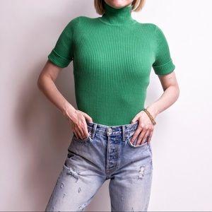 Vintage y2k green polo Ralph Lauren turtleneck top
